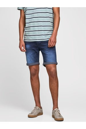 Jack & Jones Szorty jeansowe Rick Icon 12170014 Granatowy Regular Fit