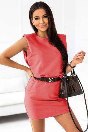 Ivon Kobieta Spódnice mini - Komplet dresowy bluzka + mini spódniczka - koralowy
