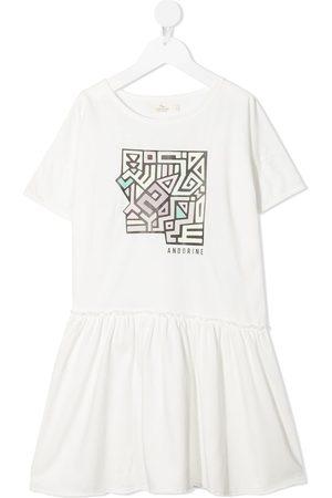 Le pandorine Dziewczynka Sukienki dzienne - White