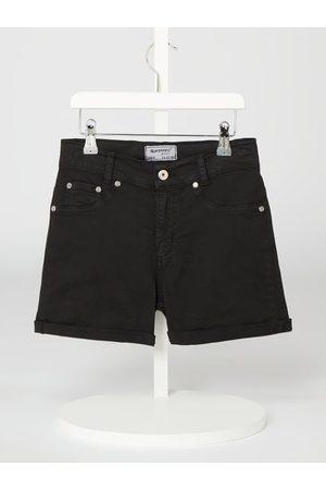 Blue Effect Dziewczynka Bermudy - Szorty jeansowe z wysokim stanem i przeszytym brzegiem