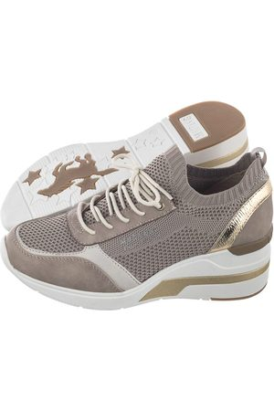 mustang Kobieta Sneakersy - Sneakersy Beżowe 46C0003 (MU390-a)