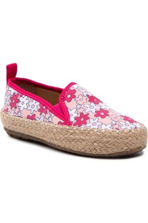 EMU Australia Dziewczynka Brogsy i Mokasyny - Espadryle - Gum Magic Print K12577 Pink/Rose