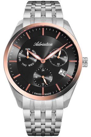 Adriatica Mężczyzna Zegarki - Zegarek - A8309.R116QF Silver/Black