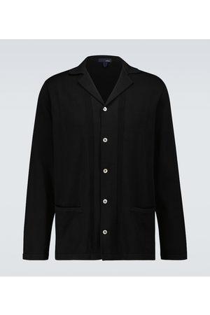 LARDINI Knitted cotton overshirt