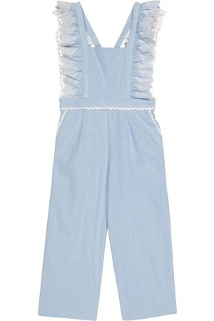 Louise Misha Fiorino lace-trimmed cotton overalls