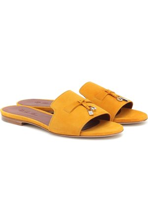 Loro Piana Summer Charms suede slides