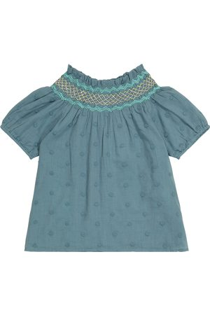 Louise Misha Tyra embroidered cotton blouse