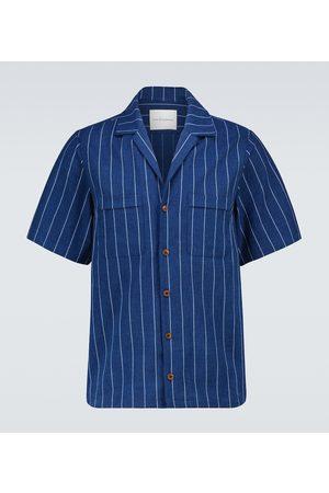 King and Tuckfield Pinstriped bowling shirt
