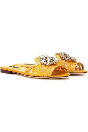 Dolce & Gabbana Bianca embellished slides