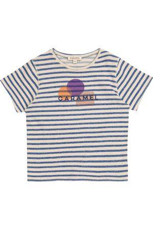 Caramel Otter striped cotton and linen T-shirt