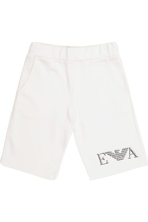 Emporio Armani Logo cotton-blend jersey shorts