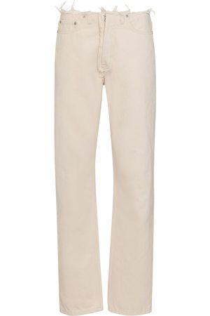 Maison Margiela Distressed mid-rise straight jeans