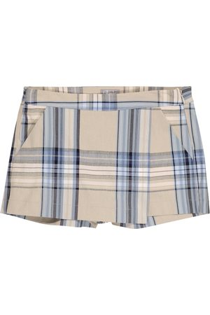 Il gufo Checked cotton-blend skort