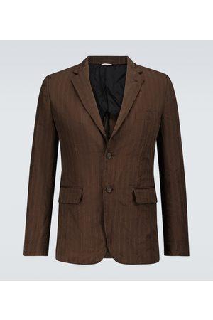 COMME DES GARÇONS HOMME DEUX Single-breasted pinstriped blazer