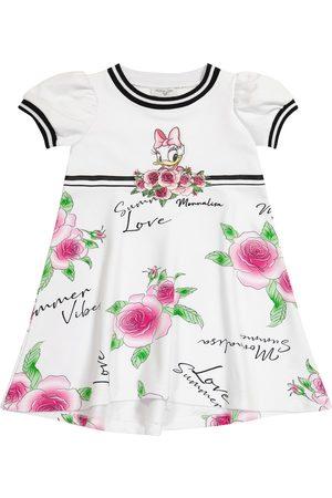 MONNALISA X Disney® floral cotton-blend dress