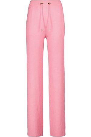 Balmain High-rise cashmere-blend sweatpants
