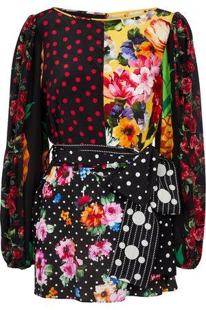 Dolce & Gabbana Belted silk crêpe de chine top