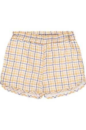 PAADE Dana checked chiffon shorts