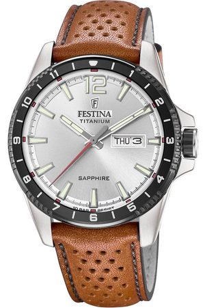 Festina Mężczyzna Zegarki - Zegarek - Titanium Sport 20530/1 Brown/Silver