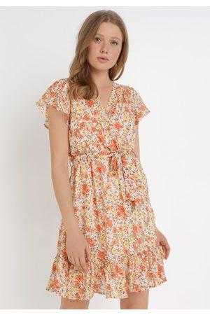 BORN2BE Kobieta Sukienki - Pomarańczowa Sukienka Imissa