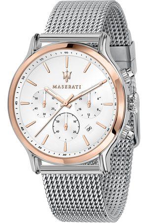Maserati Mężczyzna Zegarki - Zegarek - Epoca R8873618009 Silver/Gold