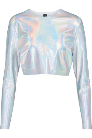 Norma Kamali Holographic crop top