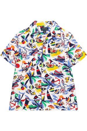 Polo Ralph Lauren Kids Printed cotton shirt