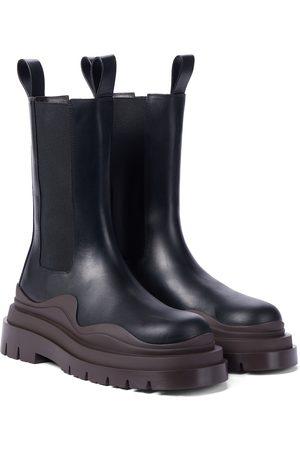 Bottega Veneta Kobieta Botki - BV Tire leather ankle boots