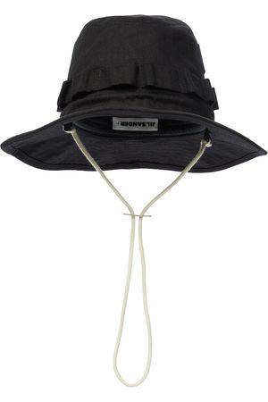 Jil Sander Cotton herringbone bucket hat