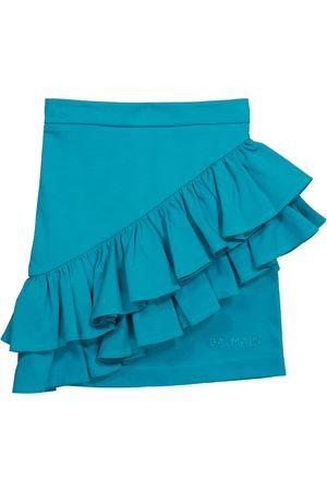 Balmain Dziewczynka Szorty - Ruffled cotton miniskirt