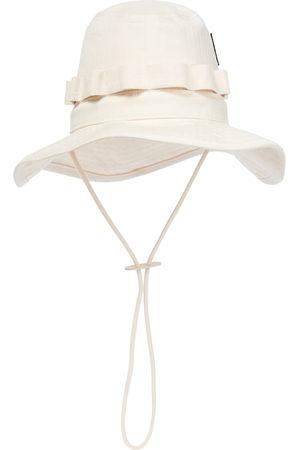Jil Sander Kobieta Kapelusze - Cotton herringbone bucket hat
