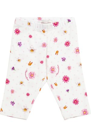 MONNALISA Niemowlę Legginsy - Baby printed stretch-cotton leggings