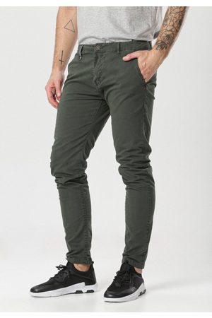 BORN2BE Mężczyzna Spodnie - Ciemnozielone Spodnie Hyssa