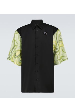 Raf Simons Szorty - Printed short-sleeved shirt