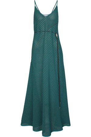 Bottega Veneta Kobieta Sukienki maxi - Striped cotton-blend maxi dress