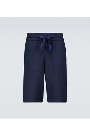Moncler Genius Bermudy - 5 MONCLER CRAIG GREEN cotton Bermuda shorts
