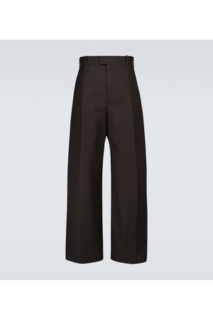 Bottega Veneta Spodnie eleganckie - Wide-leg cotton pants