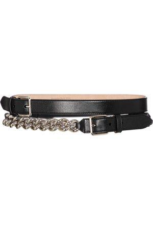 Alexander McQueen Kobieta Paski - Embellished leather belt