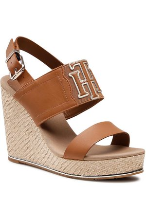 Tommy Hilfiger Espadryle Th Elastic High Wedge Sandal FW0FW05599