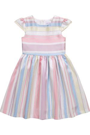 Rachel Riley Dziewczynka Sukienki - Striped metallic dress