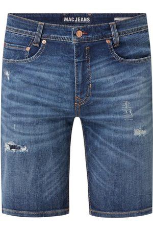 Mac Mężczyzna Bermudy - Szorty jeansowe o kroju modern fit z dodatkiem streczu model 'Arne'