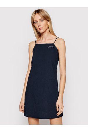 Tommy Hilfiger Sukienka plażowa UW0UW02680 Granatowy Regular Fit