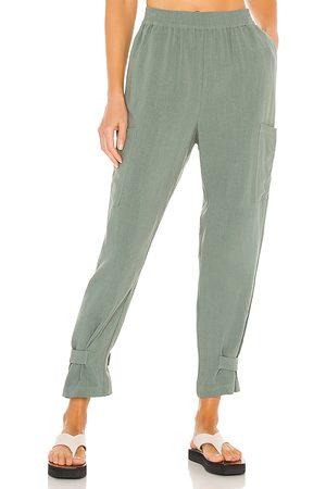 Bobi Kobieta Spodnie - BLACK Indio Linen Pant in - . Size L (also in XS, S, M).
