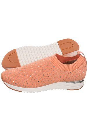 Caprice Kobieta Bluzy sportowe - Sneakersy Różowe 9-24700-26 675 Peach Knit (CP254-b)