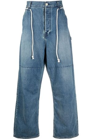 AMBUSH DRAWSTRING OVERSIZED JEANS NO COLOR