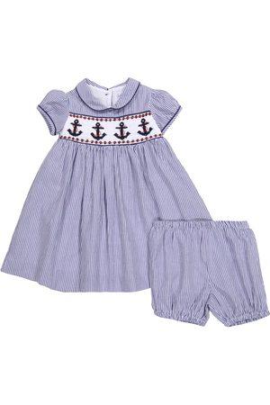 Rachel Riley Niemowlę Sukienki - Baby cotton dress and bloomers set