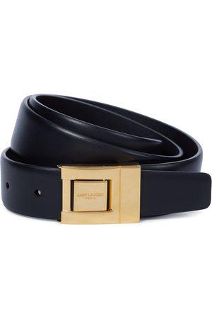 Saint Laurent Kobieta Paski - Buckled leather belt