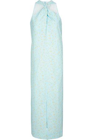 Ganni Floral cotton maxi dress