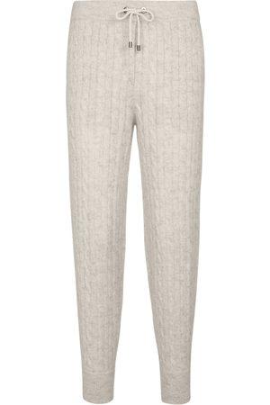 Brunello Cucinelli Kobieta Spodnie dresowe - Mohair and wool-blend sweatpants
