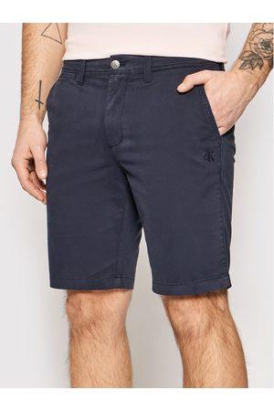 Calvin Klein Szorty materiałowe J30J319061 Granatowy Slim Fit